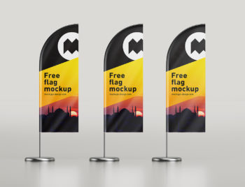 Feather Flag Free Mockup