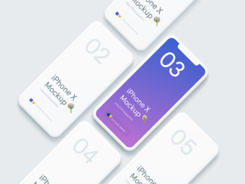 iPhone X Sketch & PSD Mockup