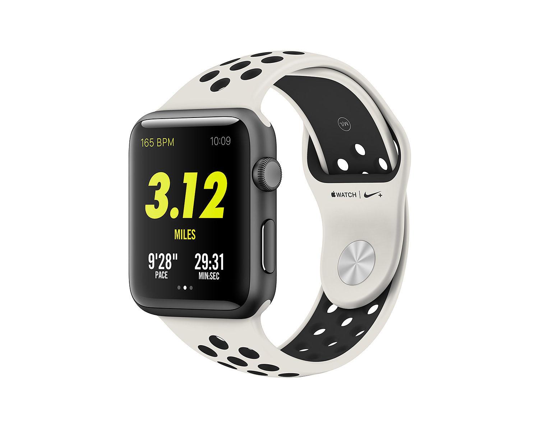 Apple Watch & Nike Light Bone Black