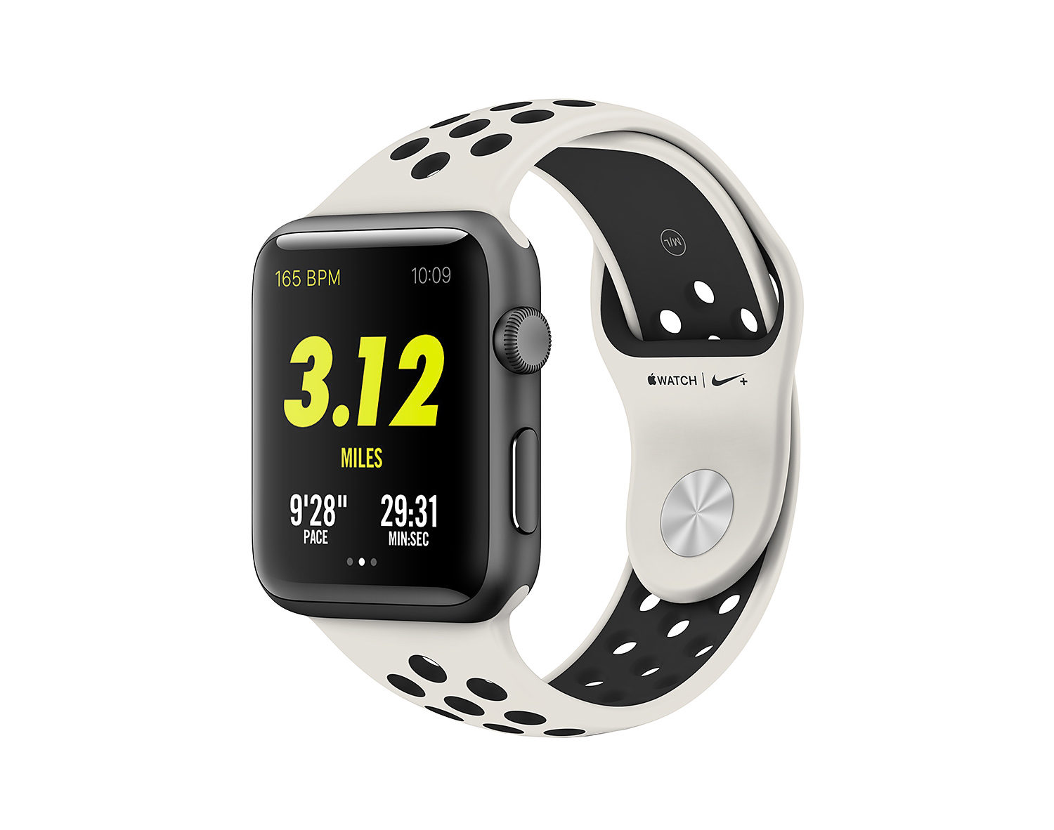 Apple Watch & Nike Light Bone Black