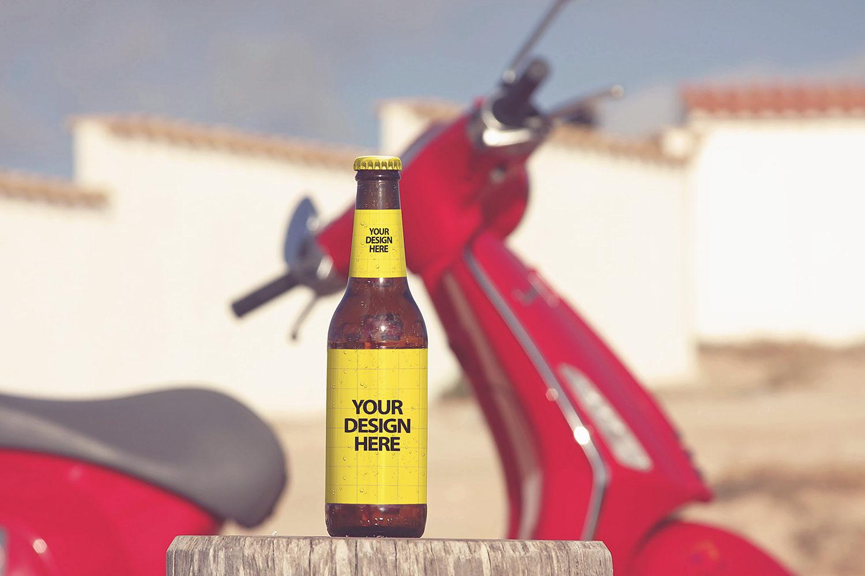 Bottle Beer Mockup Free