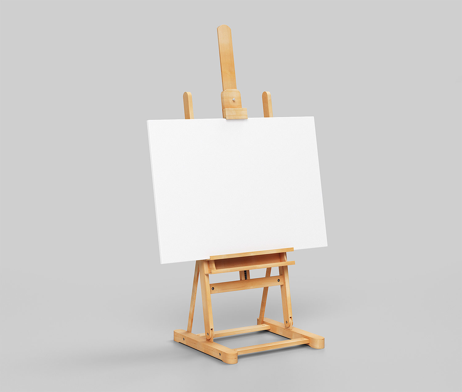 Canvas Poster on Easel Mockup Free