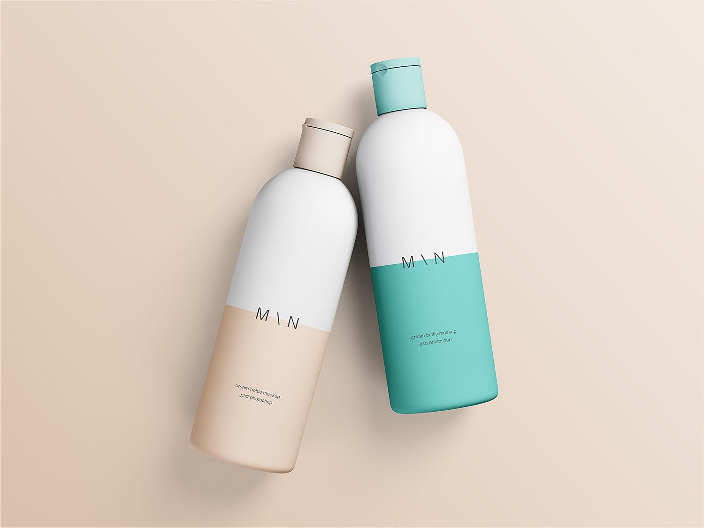 Cosmetic Bottles Mockup Free