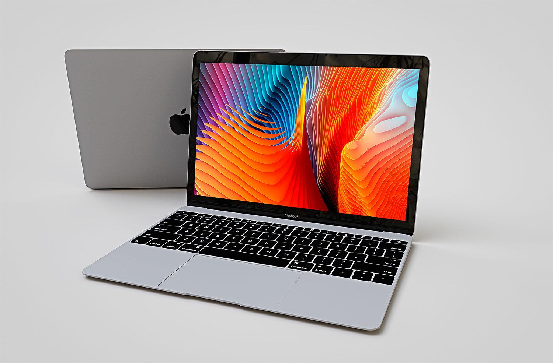 Free Apple MacBook Mockup
