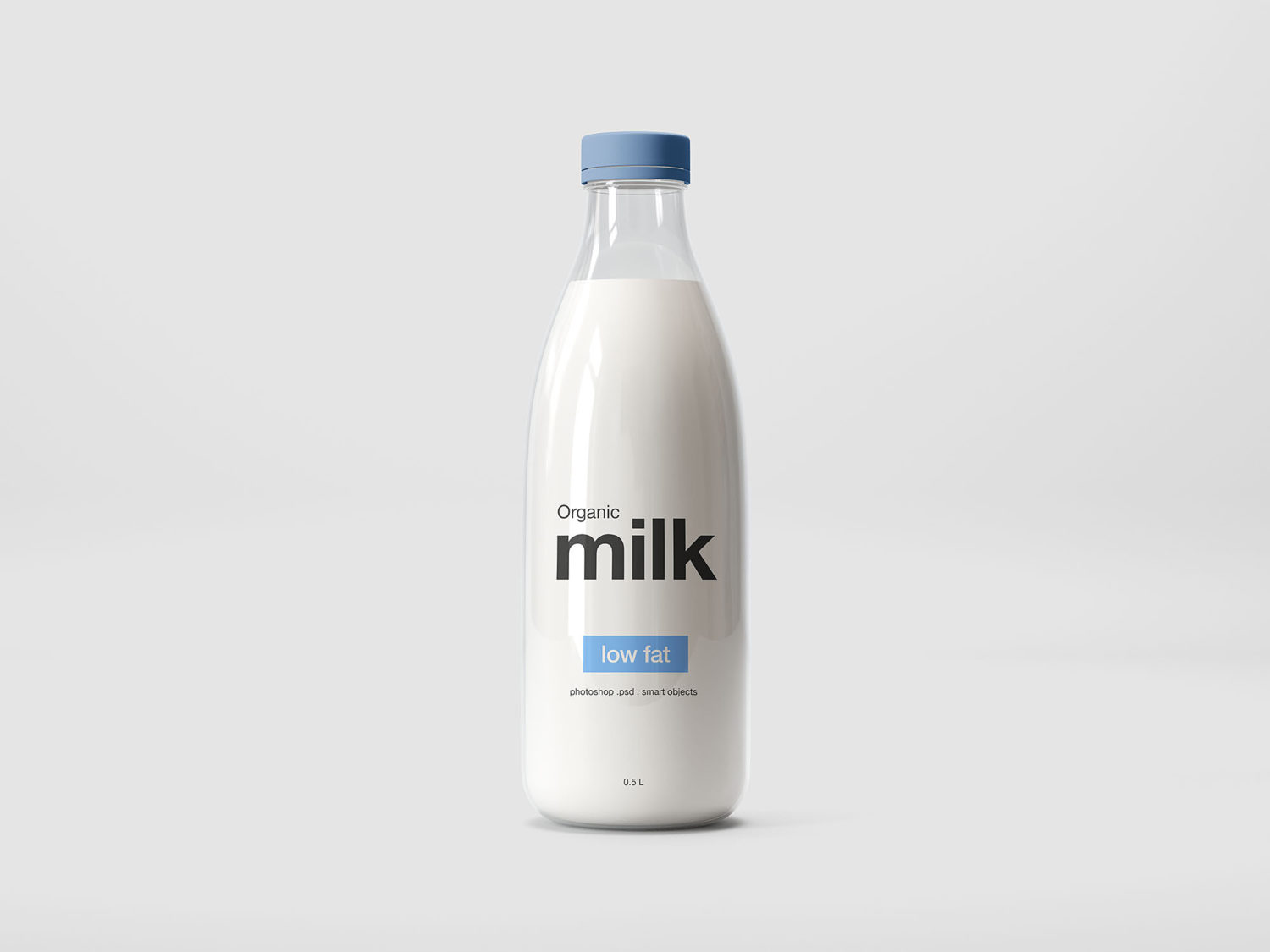 Milk Plastic Bottle Mockup