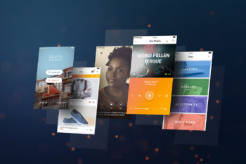 Mobile App Screens Mockup