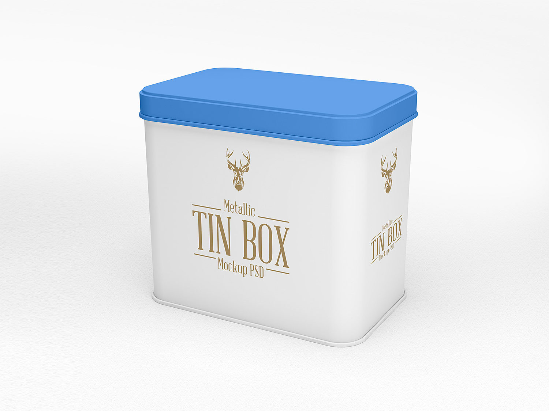 Mockup Tin Box Free