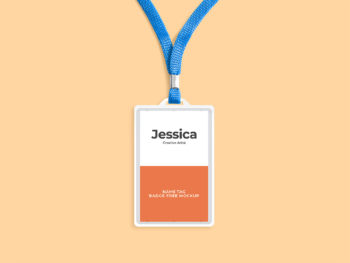 ID Card Holder Free Mockup
