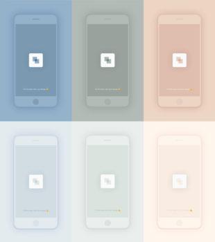 Pastel Smartphone Sketch Mockups
