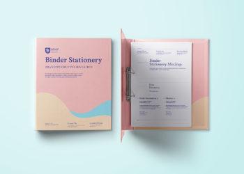 Ring Binder Folder Mockup Free