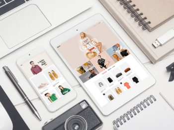 Smartphone with Tablet Free Mockup