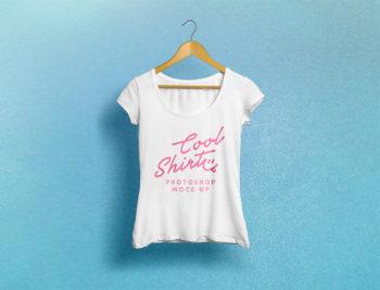 Woman T-Shirt Free Mockup
