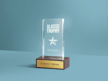 Glass Trophy Mockup