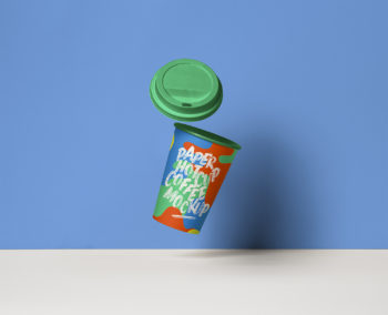 Gravity Paper Cup Mockup