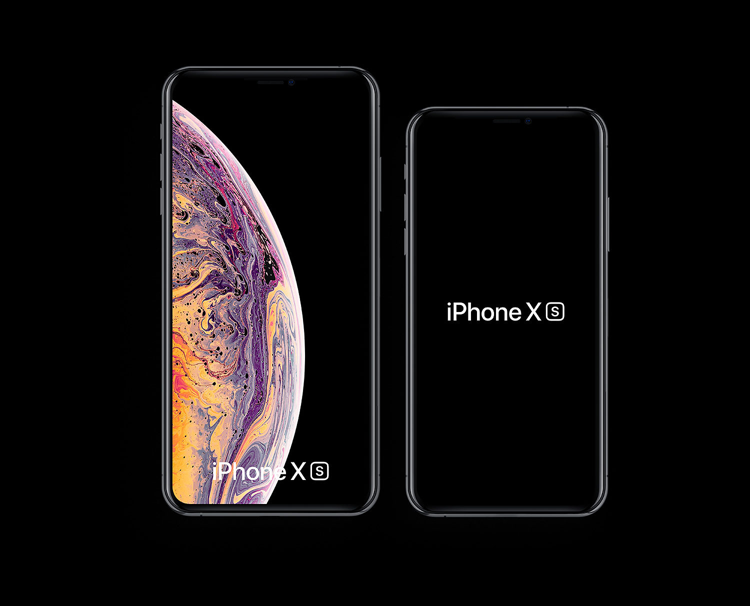 🔥 iPhone Xs & iPhone Xs Max Free PSD & Sketch Mockups (5 styles