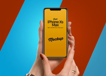 iPhone Xs Max in Female Hand Mockup
