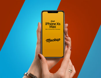 iPhone Xs Max in Female Hand Mockup