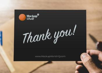 Thank You Card Free Mockup