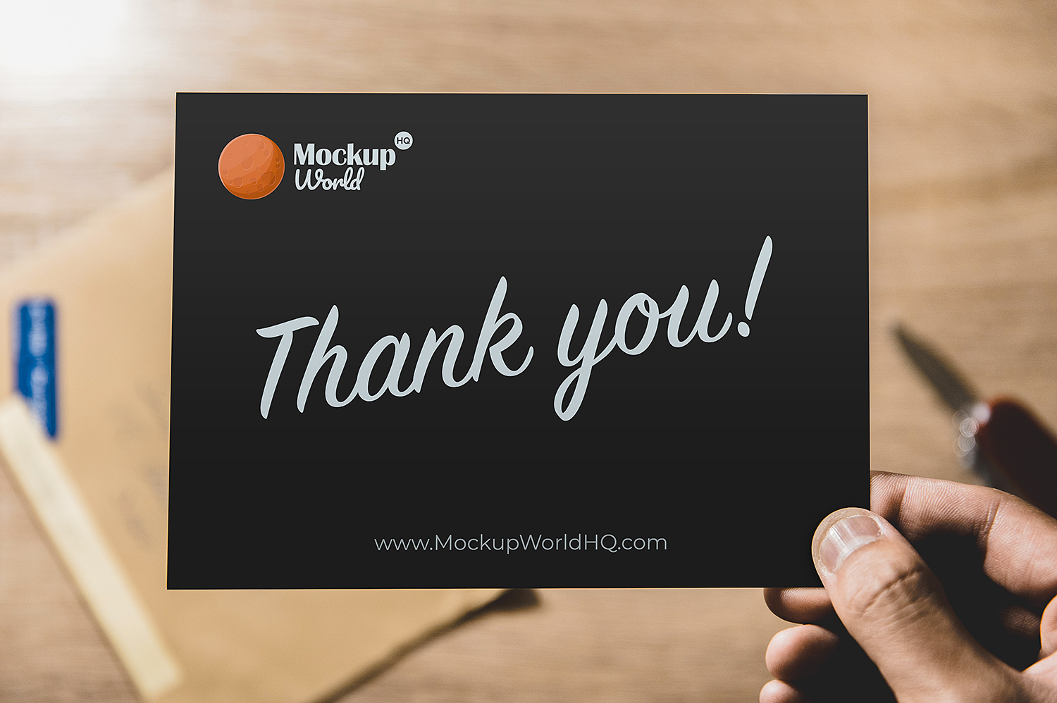 Thank You Card Free Mockup