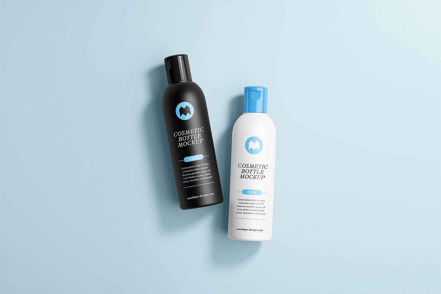 Free Cosmetic Bottle Mockups