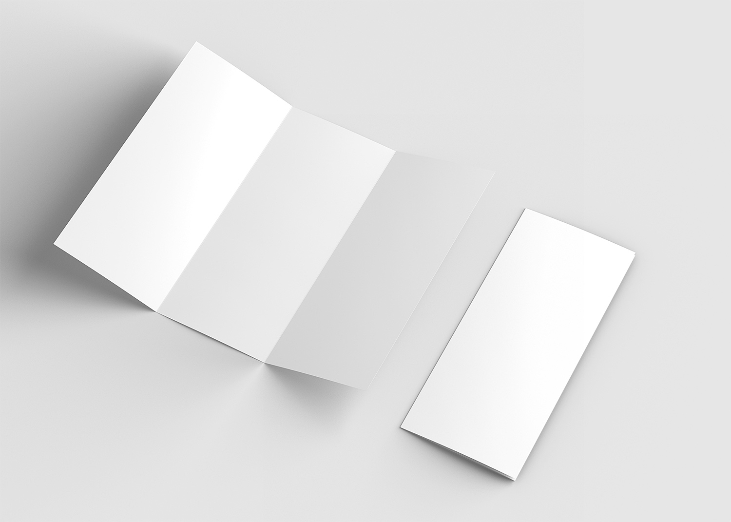 US Letter Trifold Free Mockup