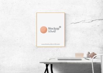Free Minimalist Poster PSD Mockup