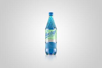 Plastic Water Bottle 1000ml Free Mockup