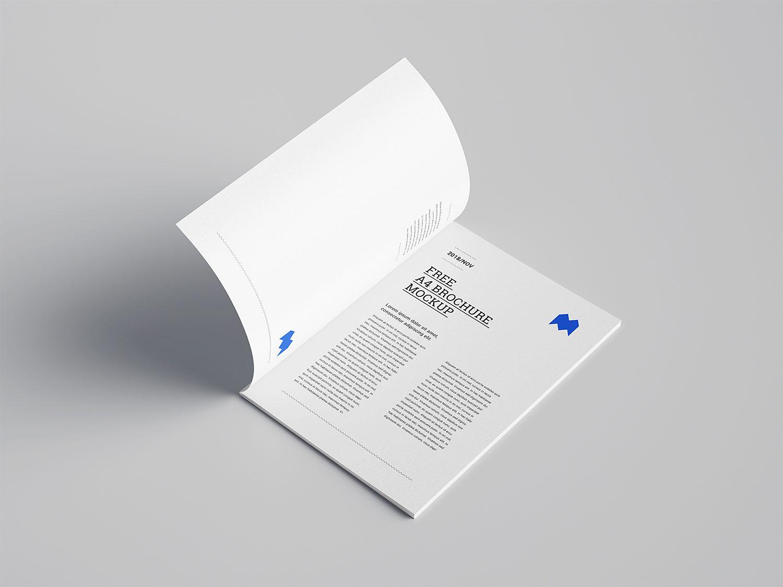 A4 Brochure Free Mockup