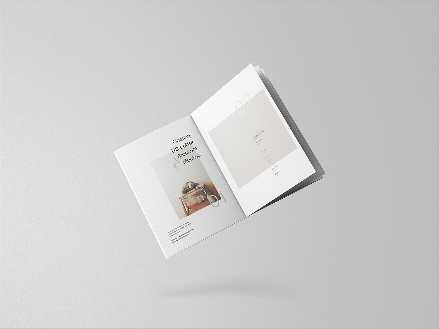 Floating Brochure Free Mockup