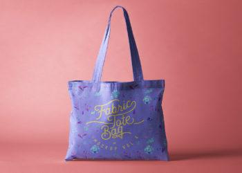 Tote Bag Fabric Mockup Free