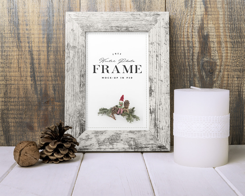 Winter Photo Frame Mockup