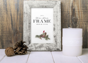 Winter Photo Frame Mockup