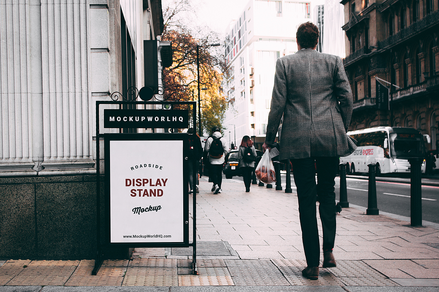 Outdoor Display Stand Free Mockup