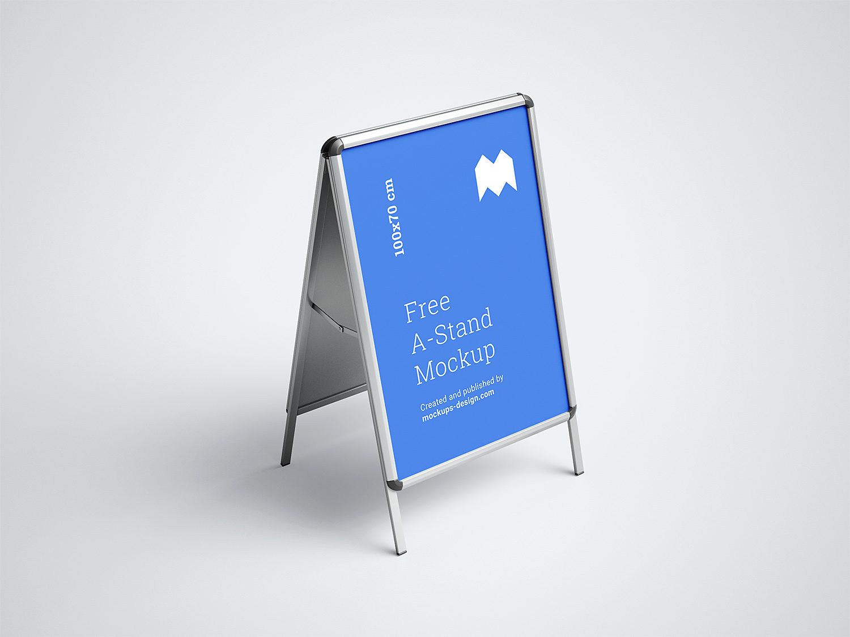 A-Stand Free Mockup