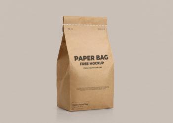 Craft Paper Bag Free Mockup