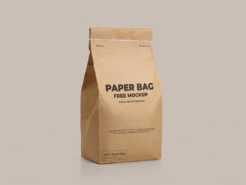 Craft Paper Bag Free Mockup