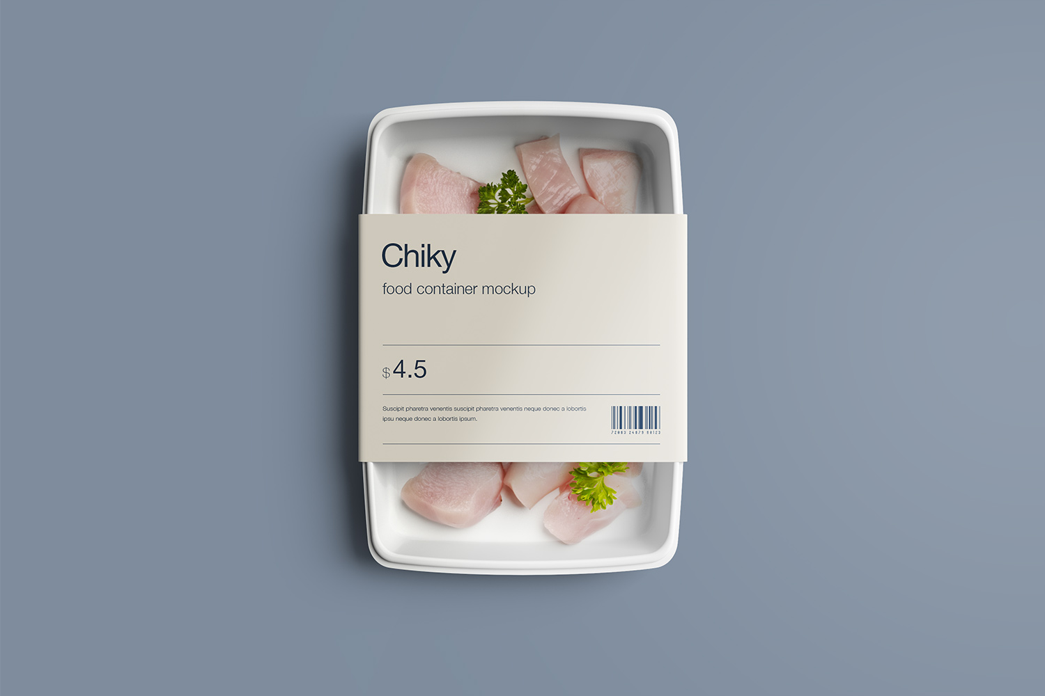 Disposable Food Container Mockup