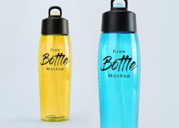 Free Water Plastic Bottle Mockup