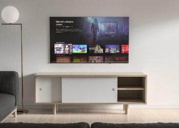 55-inch Smart TV Mockup Free