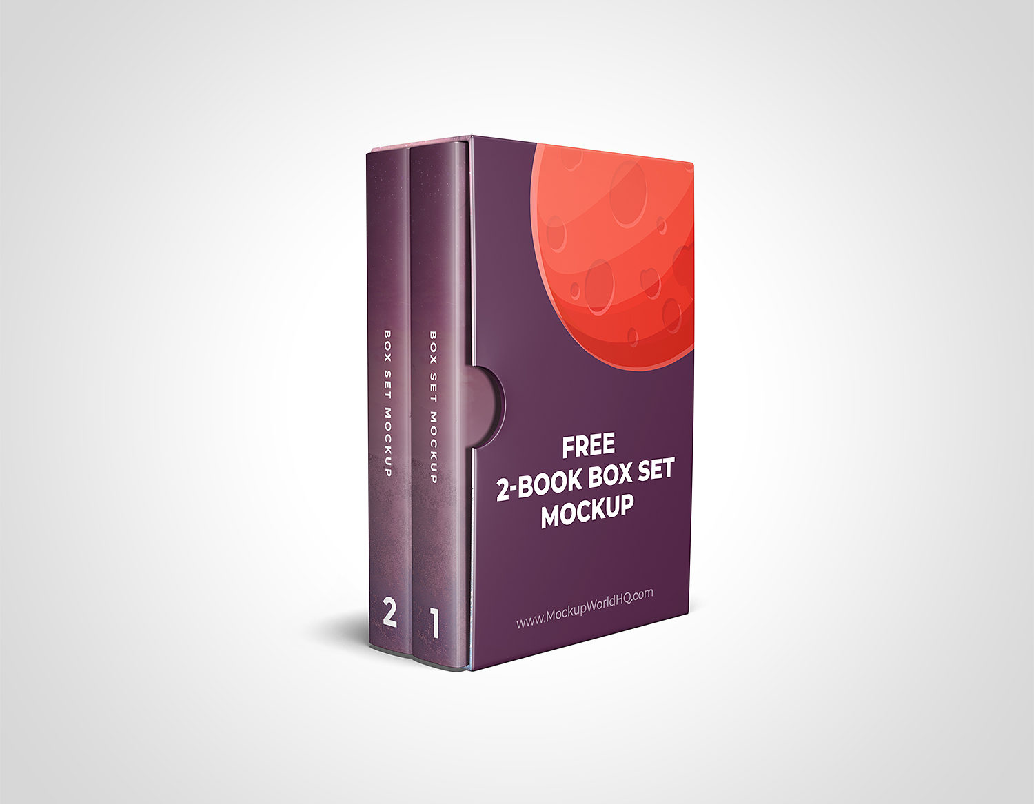 6x9 2-Book Box Set Mockup Template