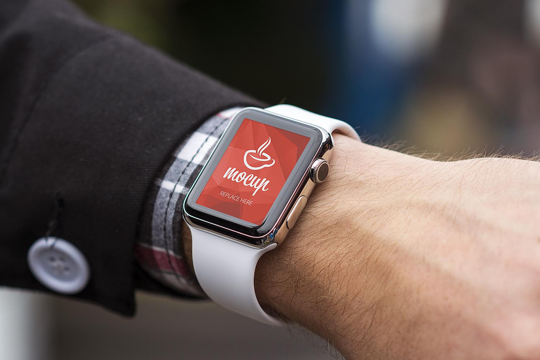 Apple Watch Mockup Free PSD