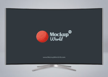 Curved TV Free Mockup