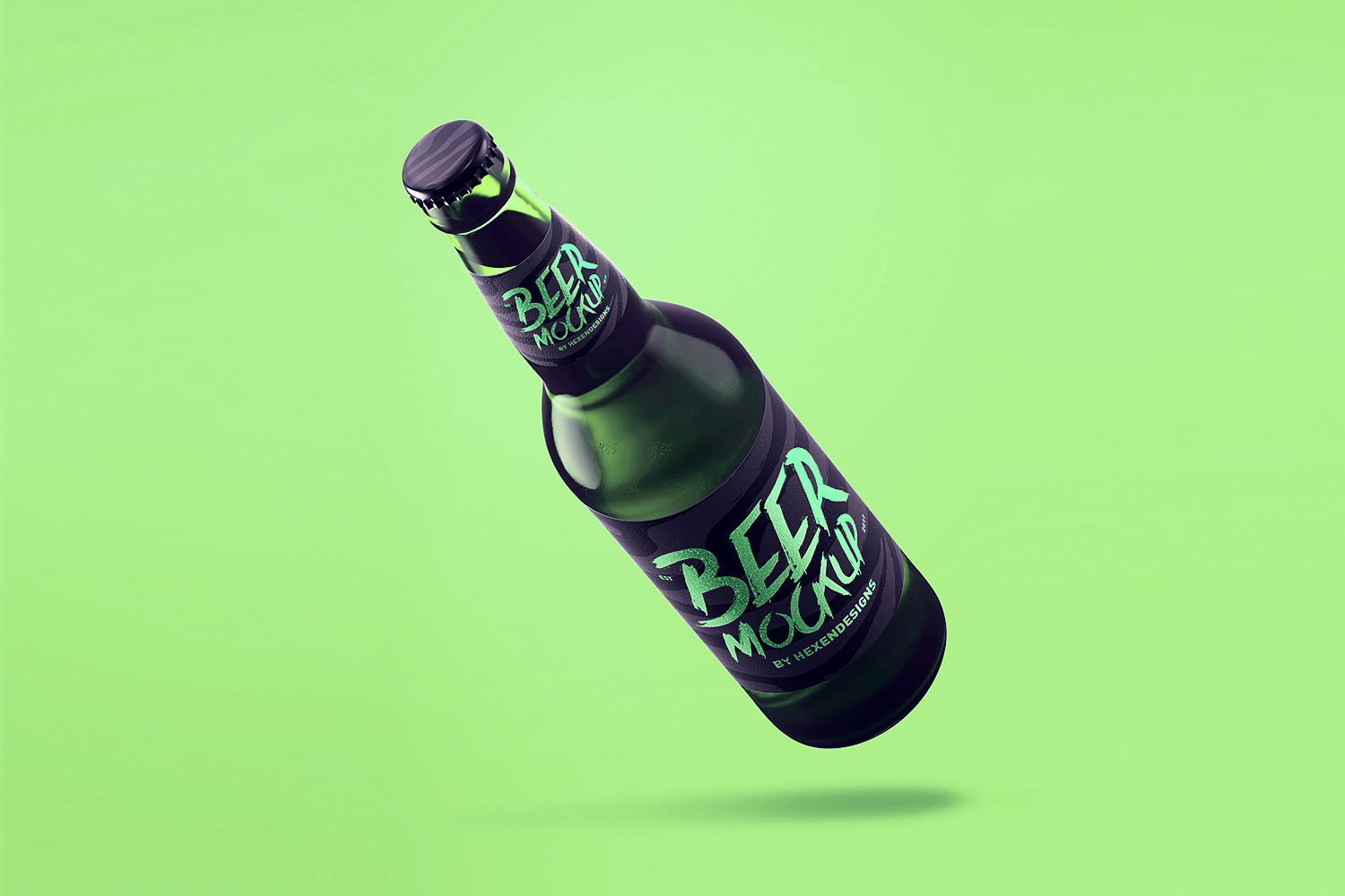 Free Beer Bottle PSD Mockup