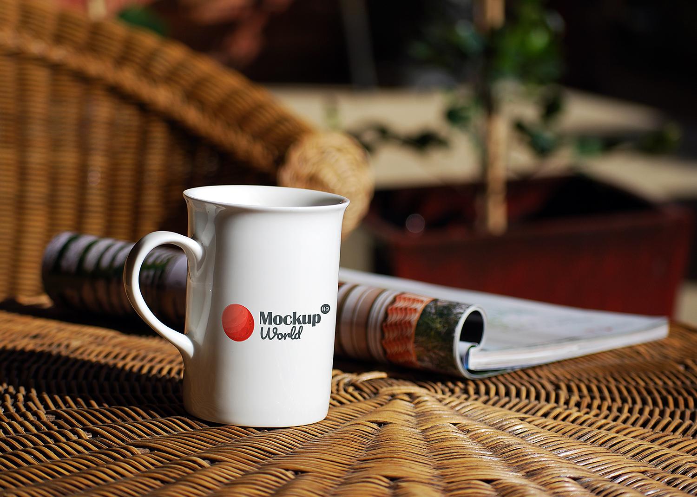 Free Coffee Mug Mockup PSD | Mockup World HQ