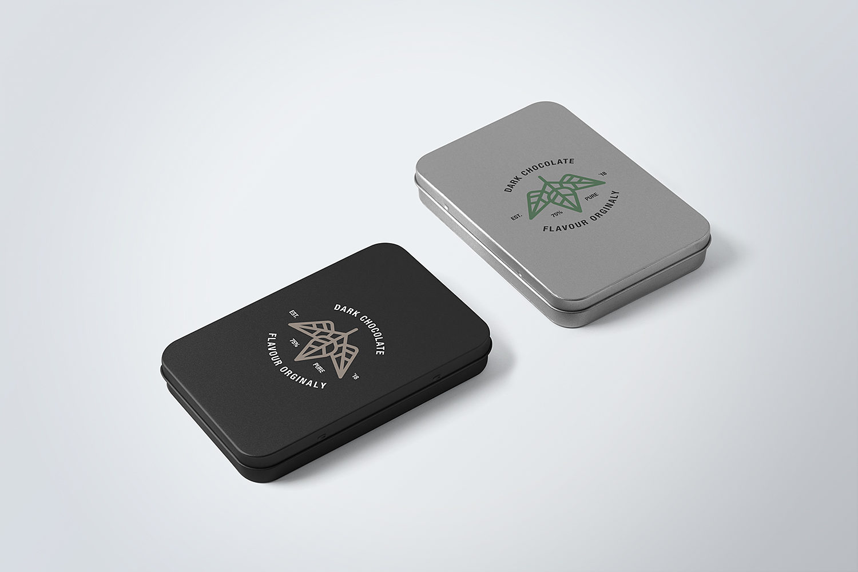 Free Tin Boxes Mockup