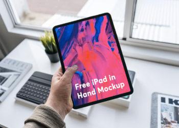 Free iPad Pro 2018 in Hand Mockup