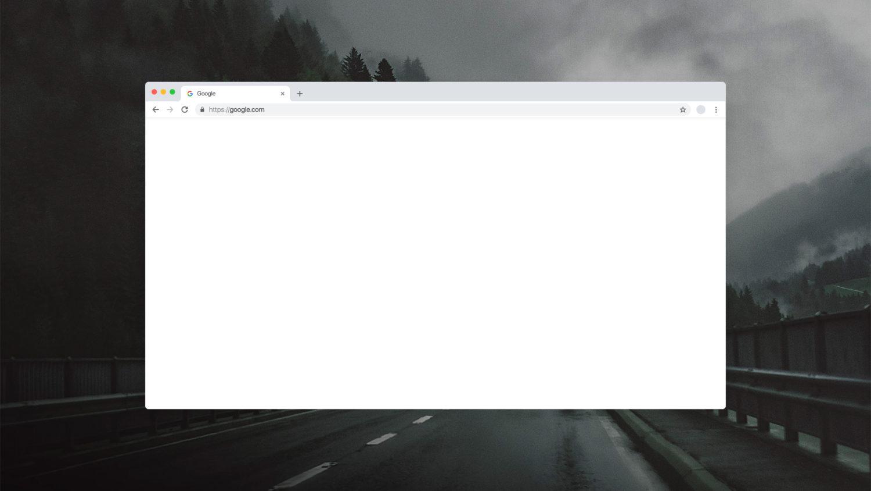 Google Chrome Free Mockup