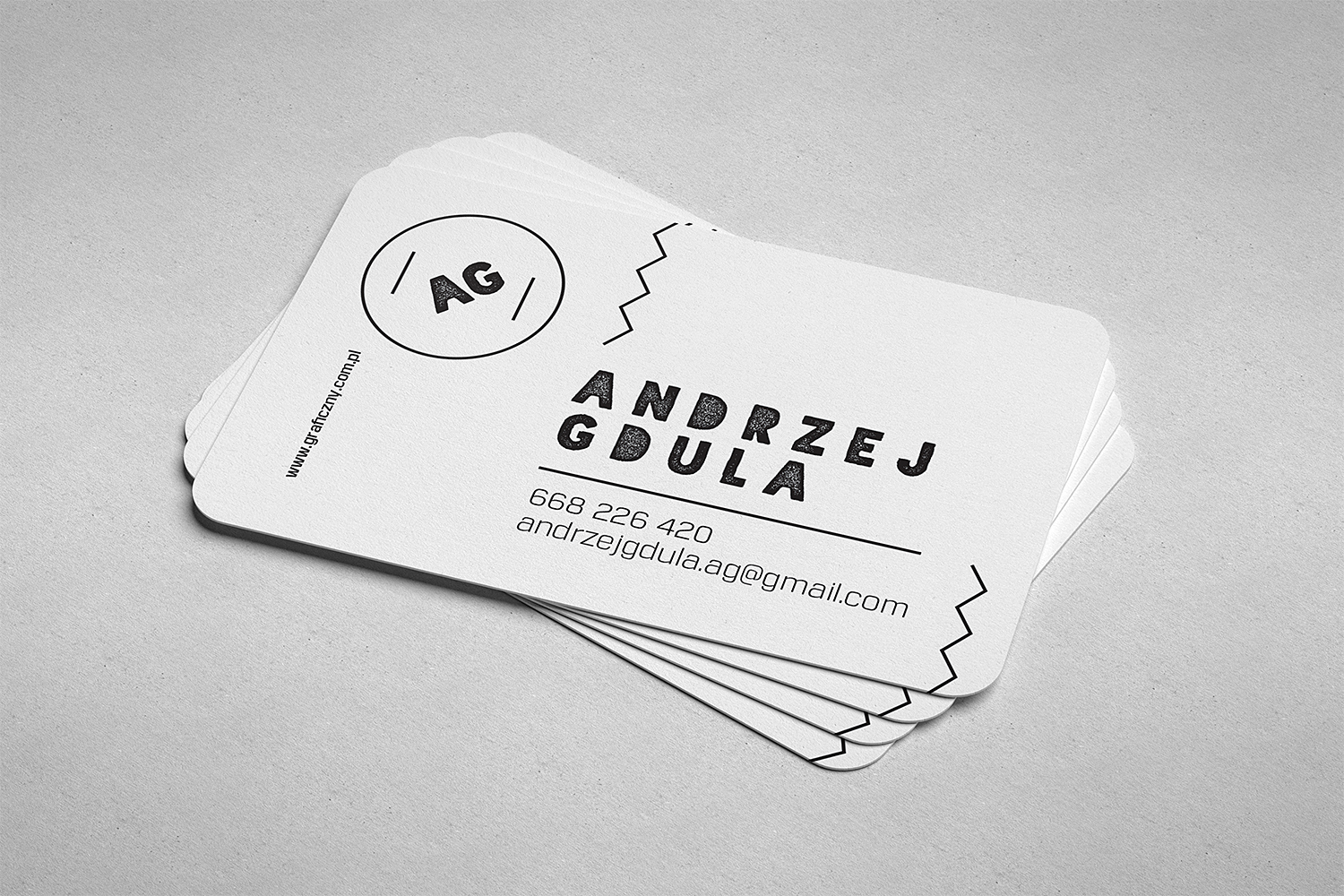 Rounded Business Cards Free Mockup