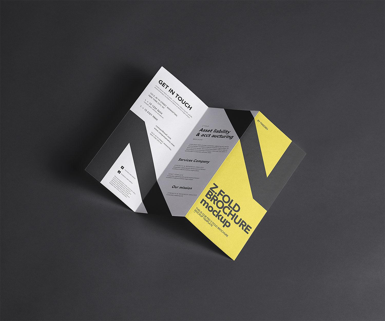 Z-Fold Brochure Free Mockup
