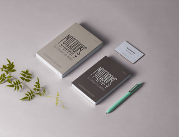 Free Book, Notebook and Business Card Mockup
